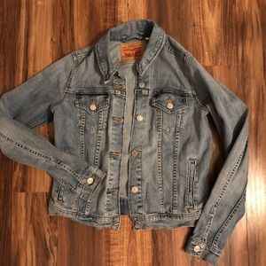 Light blue Levi's Jean Jacket.
